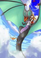 Sky flight by Apricotil
