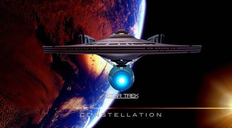 STAR TREK CONSTELLATION POSTER 2014 by PUFFINSTUDIOS
