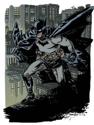 Chris Samnee Batman warm up colours by Pleurgh