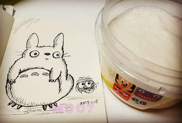 A doodle a day - Totoro tororo  by Merc007