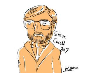 Steve Carell doodle by Merc007
