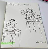 Inktober 2017 [2-DIVIDED]  Can you reach me? by Merc007