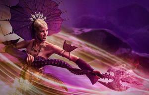 Warrior Mermaid by michellemonique