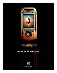 Sony Ericsson W600 Print Ad by torchboy