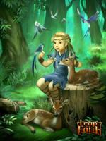 Forest huntress by kikicianjur