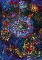 Psychedelic Mandala Yantra by jlof