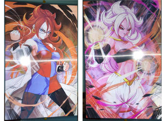Android 21 3D Poster by gamemaster8910