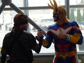 Snake meets All Might by gamemaster8910
