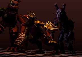 The Twisteds (except Foxy) Blender Release by kenboGames
