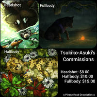 Commissions: OPEN Paypal/Points by Tsukiko-Asuki