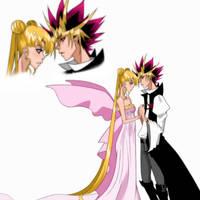 Commission : Yami x Princess Serenity by MoonPrincessAya
