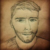 Daily Sketch: 2012.03.29 - Sefl Porf portrait 2012 by atomantic