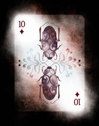 Beetle Royale: Poker Deck 10 of Diamonds by atomantic