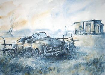Broken car by Kot-Filemon