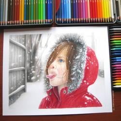 Winter portrait by Kot-Filemon