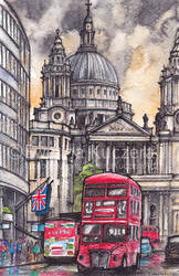 London illustration by Kot-Filemon