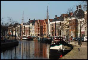 A Groningen harbour scene by Esperimenti
