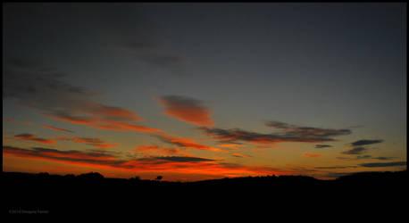 Farm Sunset by DwayneF