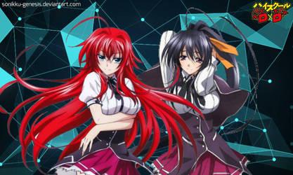 Rias Gremory and Akeno Himejima by Sonikku-Genesis