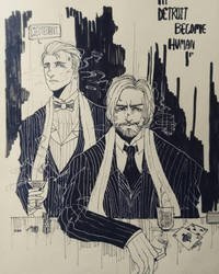 Fanart [Detroit Become Human]Mafia or gentleman? by CarmenDarkScarlet