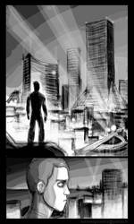 Planche ville nuit by Kennedycomics