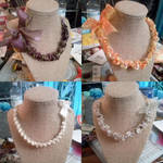 Ribbon Necklaces by RasTear