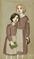Jane Eyre and Helen Burns by howsimplylovely