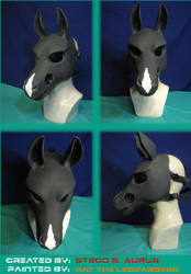 Painted Gas Mask: Diamond Equine Design by Catwoman69y2k