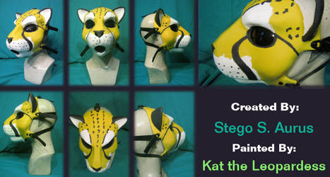 Painted Gas Mask: Kauko Cheetah V2 by Catwoman69y2k
