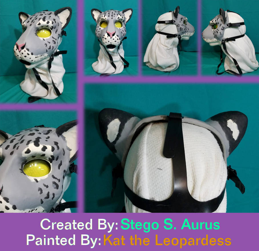 Painted Gas Mask: Snow Mew 3 by Catwoman69y2k