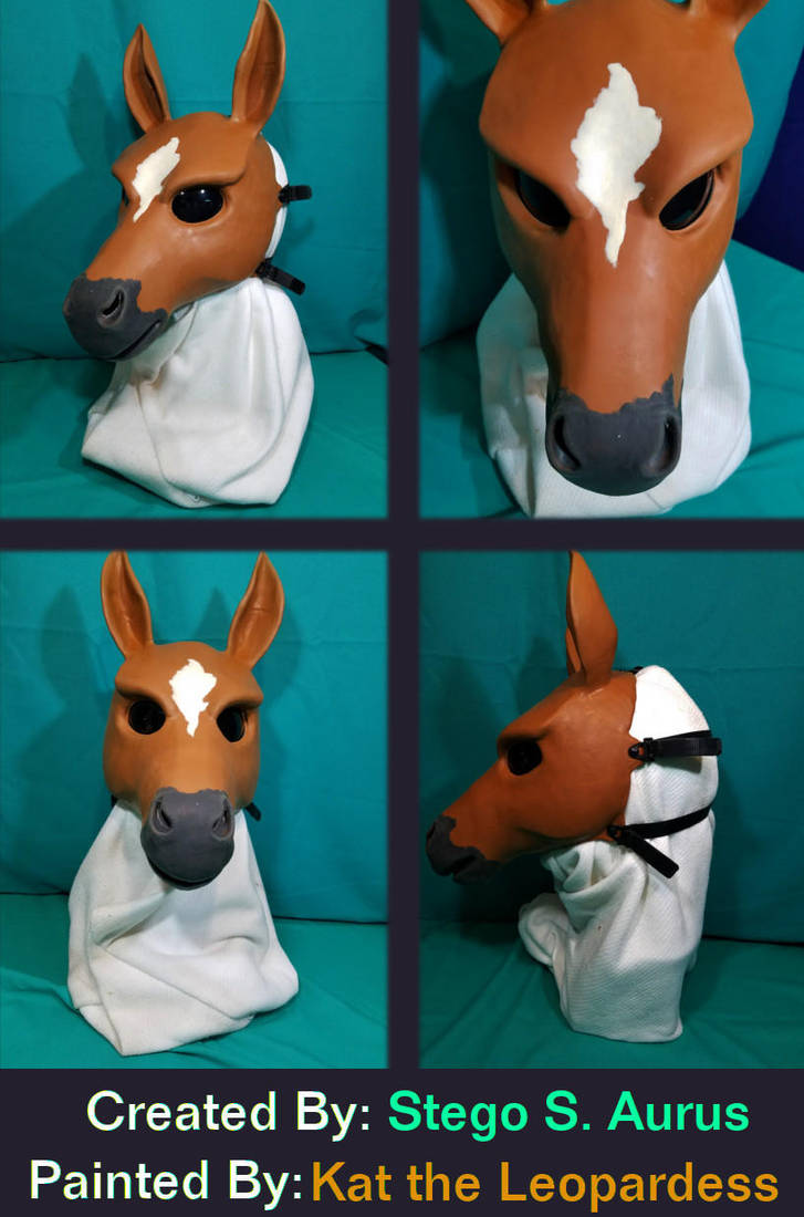 Painted Gas Mask: Bay Horse by Catwoman69y2k