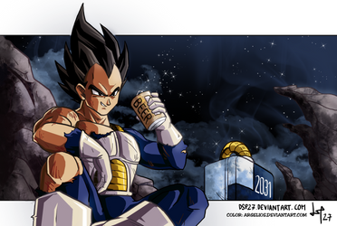 Vegeta after work //color by Argelios by dsp27
