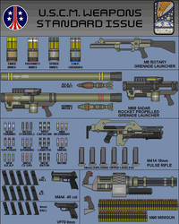 Weapons of the U.S.C.M. page 1 by Sev-Tai