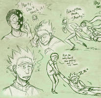 Rick and Morty Doodles by PhantomWise19