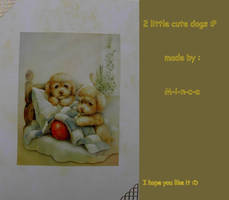 3D card: 2 little cute dogs by M-i-n-c-a