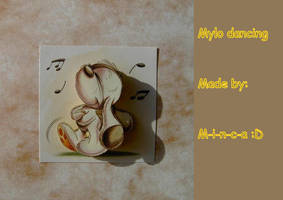 3D card: Mylo dancing by M-i-n-c-a