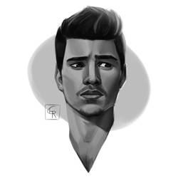 Matthieu Charneau - Headshot sketch by Rom1-123