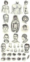 Sketchbook dump - Studies by Rom1-123
