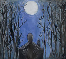 Moonlight walk by Bikushi