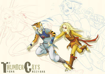 Running Cats by Fuyukichi