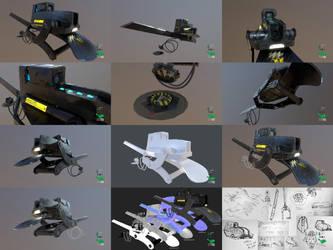 Bio-Interface Platform - Weapon Concept Prop Model by SASteinhebel