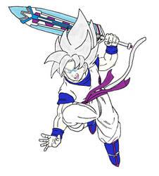 100 Watchers! Blue Super Saiyan Silver (Master) by Blue-Eyes3000