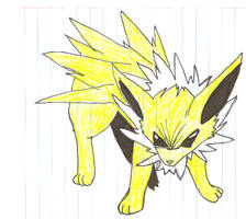 Kari's Jolteon by Kiva-Shirogane