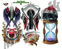 Tattoo Flash sheet 10 by JasonMas