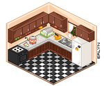Isometric Kitchen by lyxven