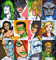 DC Legacy sketch cards by grantgoboom