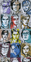 HEROES Sketch Cards - Group 2 by grantgoboom
