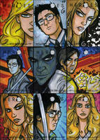 HEROES Sketch Cards - Group 3 by grantgoboom