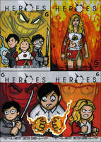 HEROES CARDS: Toonies, Claire by grantgoboom