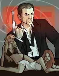 Daniel Craig as 007 by grantgoboom